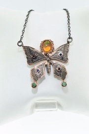 Tiara Fine Jewelry Opal Butterfly Necklace - Product Mini Image