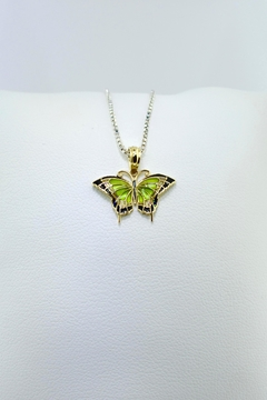 Tiara Fine Jewelry Green Butterfly Pendant - Product List Image