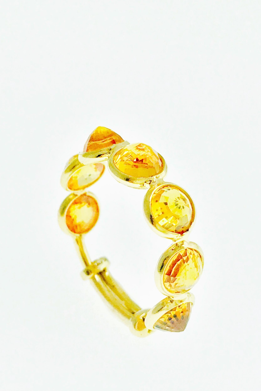 Tiara Fine Jewelry Citrine Expandable Ring - Front Cropped Image