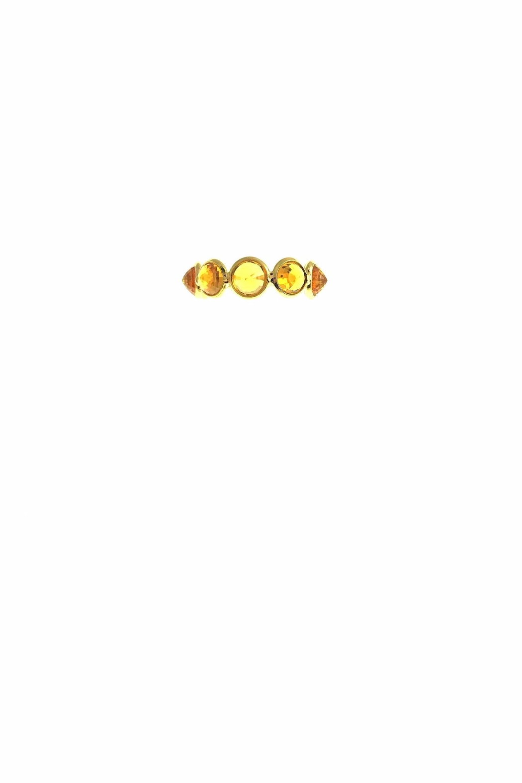 Tiara Fine Jewelry Citrine Expandable Ring - Side Cropped Image