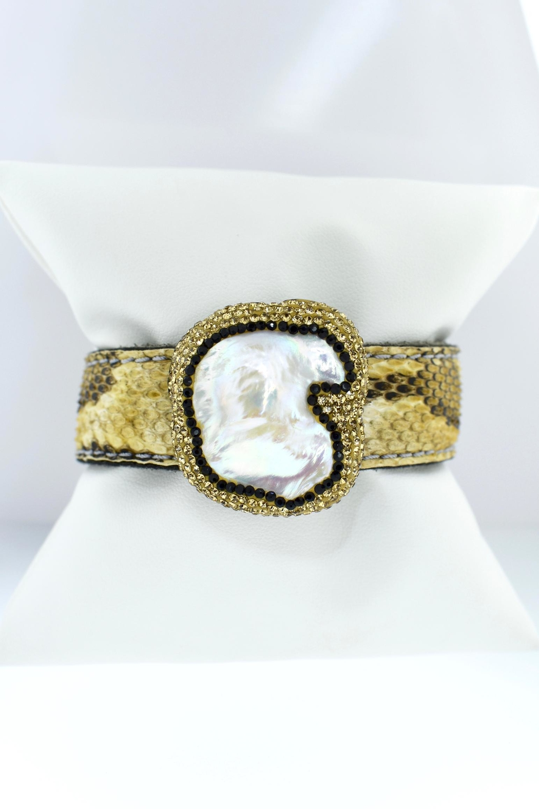 Tiara Fine Jewelry Crystal Snake Cuff - Front Cropped Image