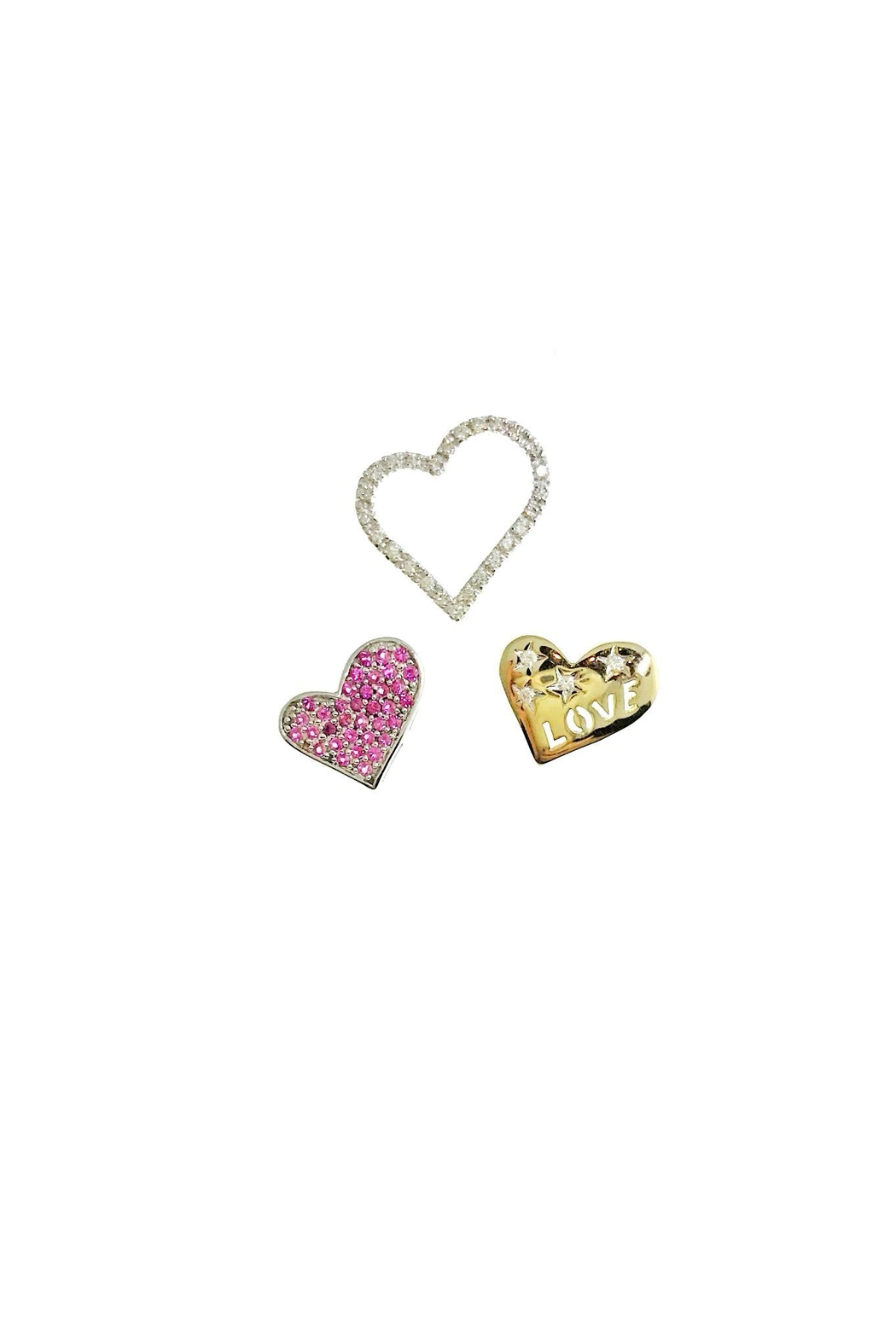Tiara Fine Jewelry Diamond Heart Pendant - Front Full Image