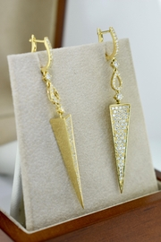 Tiara Fine Jewelry Diamond Triangle Earrings - Product Mini Image