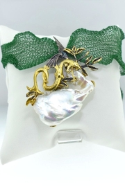 Tiara Fine Jewelry Dragon Pearl Pendant - Front full body