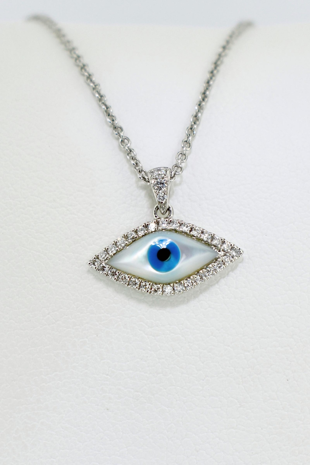 sapphire good evil pfs necklace colored luck bling silver blue evileye jewelry cz eye