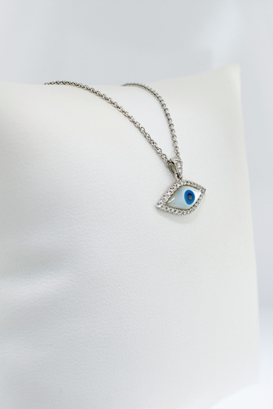 Tiara Fine Jewelry Evil Eye Necklace - Side Cropped Image