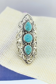Tiara Fine Jewelry Genuine Turquoise Ring - Product Mini Image