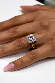 Tiara Fine Jewelry Pink Sapphire Ring - Front cropped
