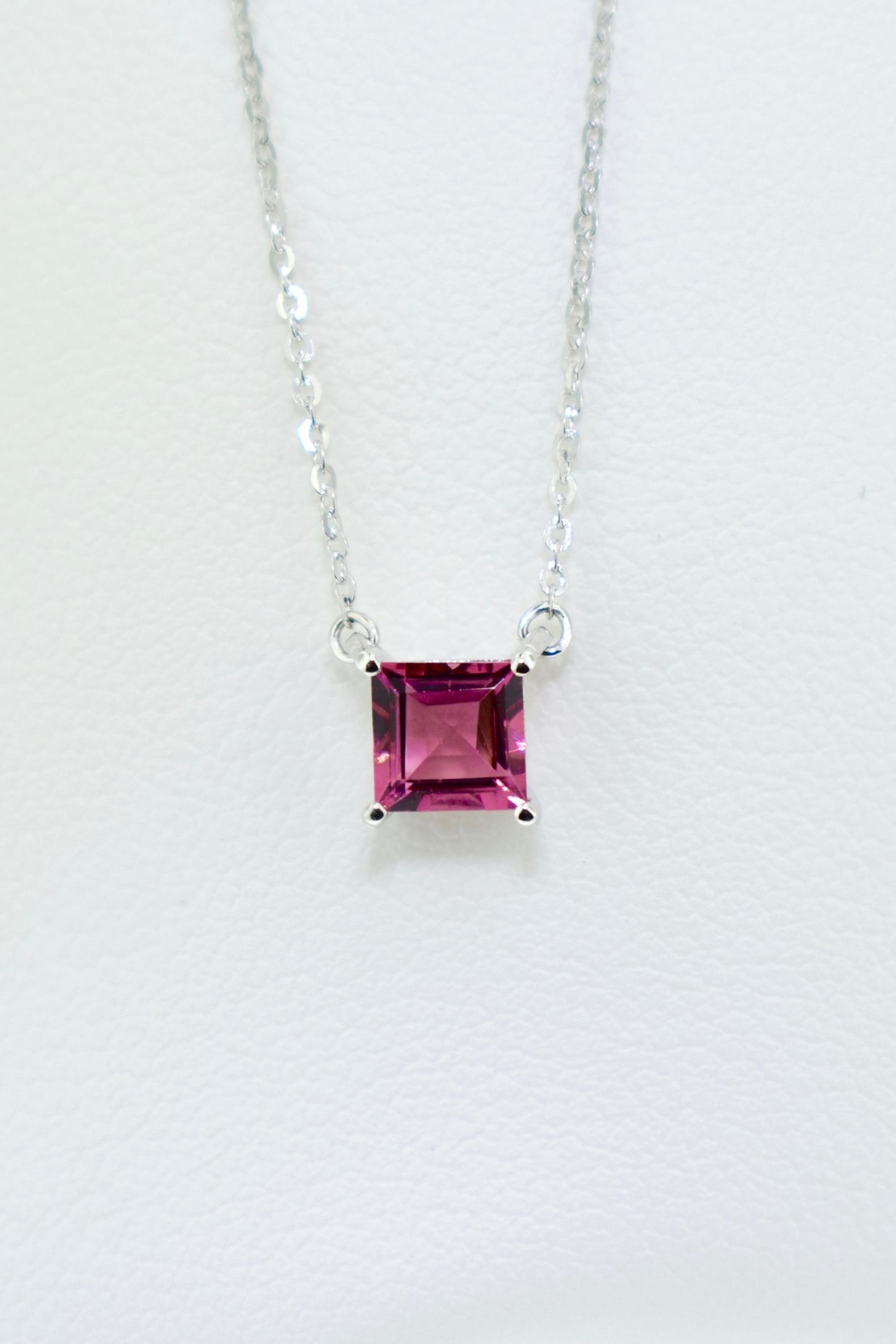 Tiara Fine Jewelry Pink Tourmaline Necklace - Front Cropped Image