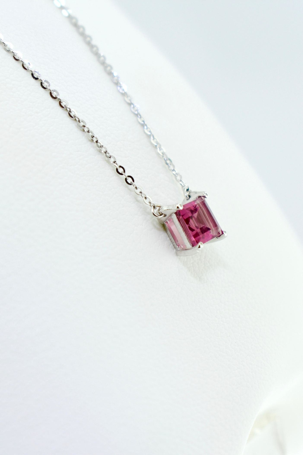 Tiara Fine Jewelry Pink Tourmaline Necklace - Front Full Image
