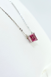 Tiara Fine Jewelry Pink Tourmaline Necklace - Front full body