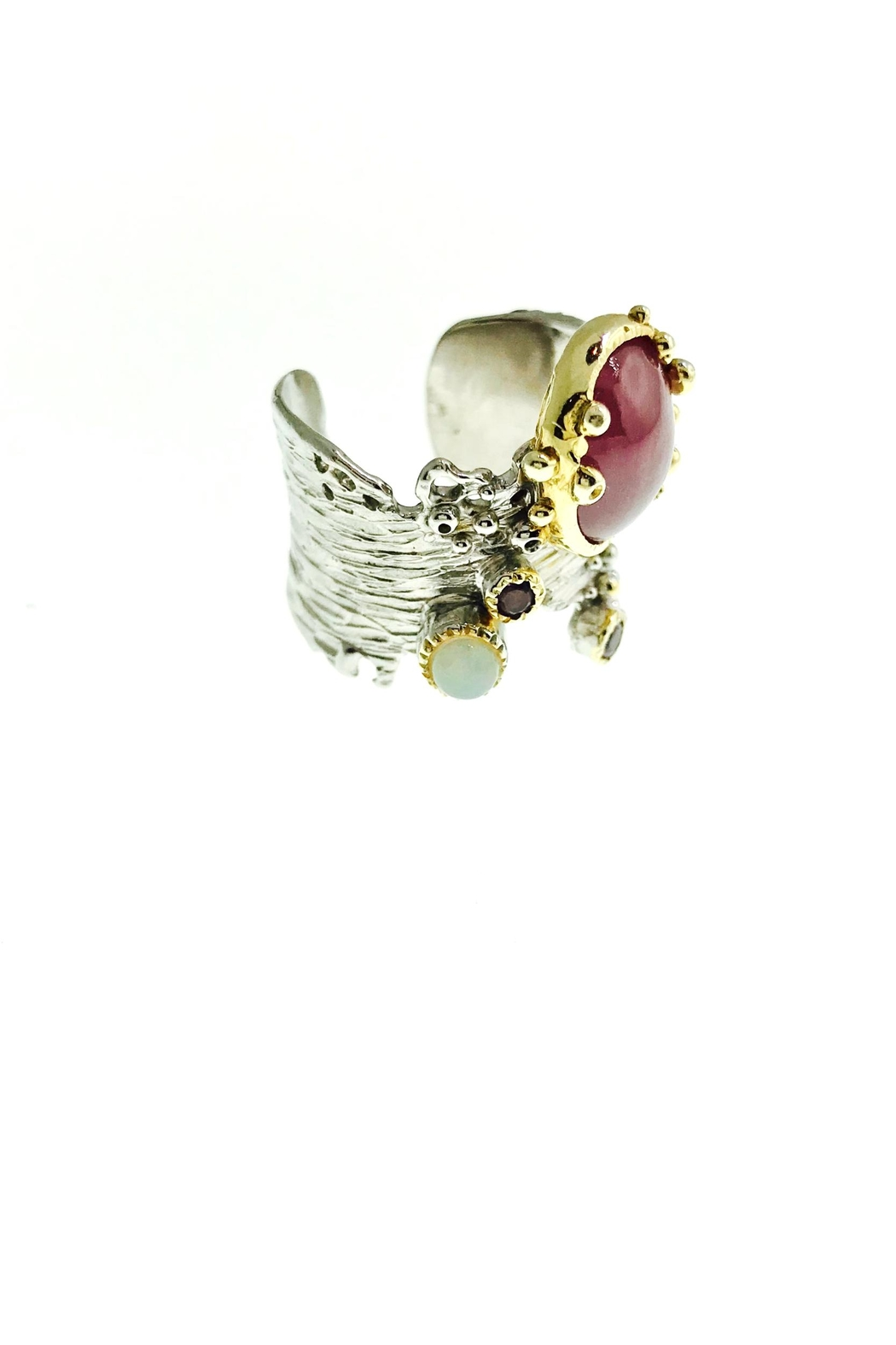 Tiara Fine Jewelry Ruby Opal Ring - Front Full Image
