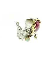 Tiara Fine Jewelry Ruby Opal Ring - Front full body