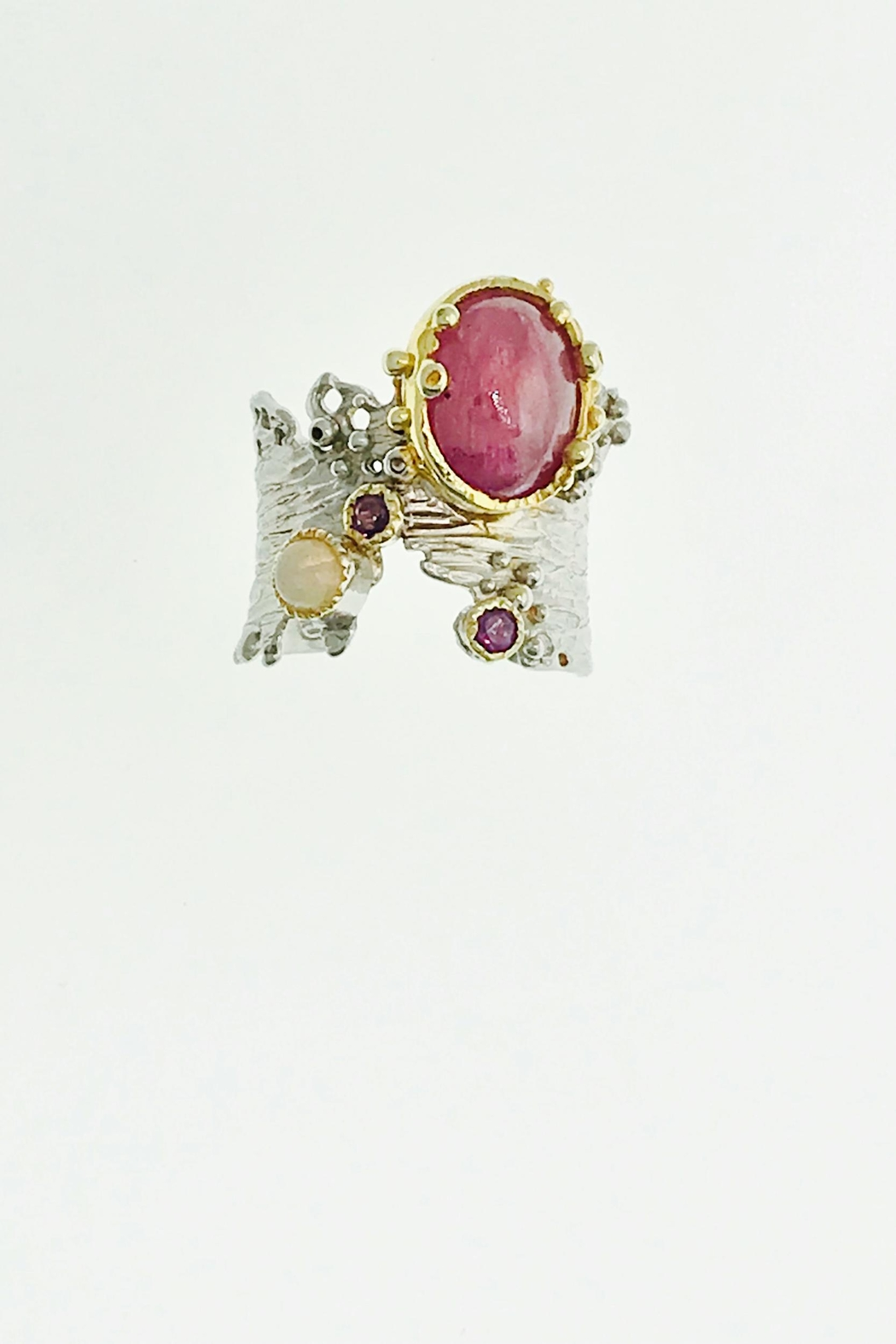 Tiara Fine Jewelry Ruby Opal Ring - Main Image
