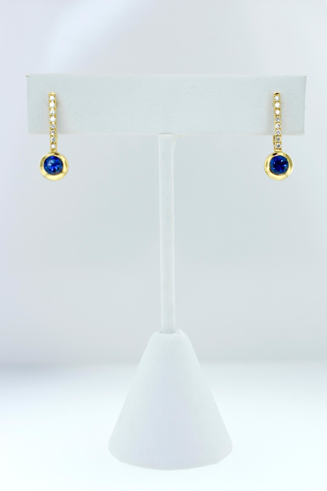 Tiara Fine Jewelry Sapphire Earrings - Front Cropped Image