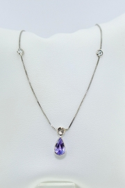 Tiara Fine Jewelry Sapphire Diamond Necklace - Product Mini Image