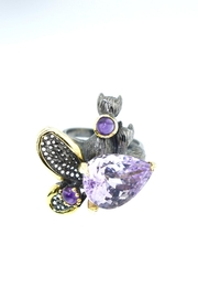 Tiara Fine Jewelry Silver Amethyst Ring - Front cropped