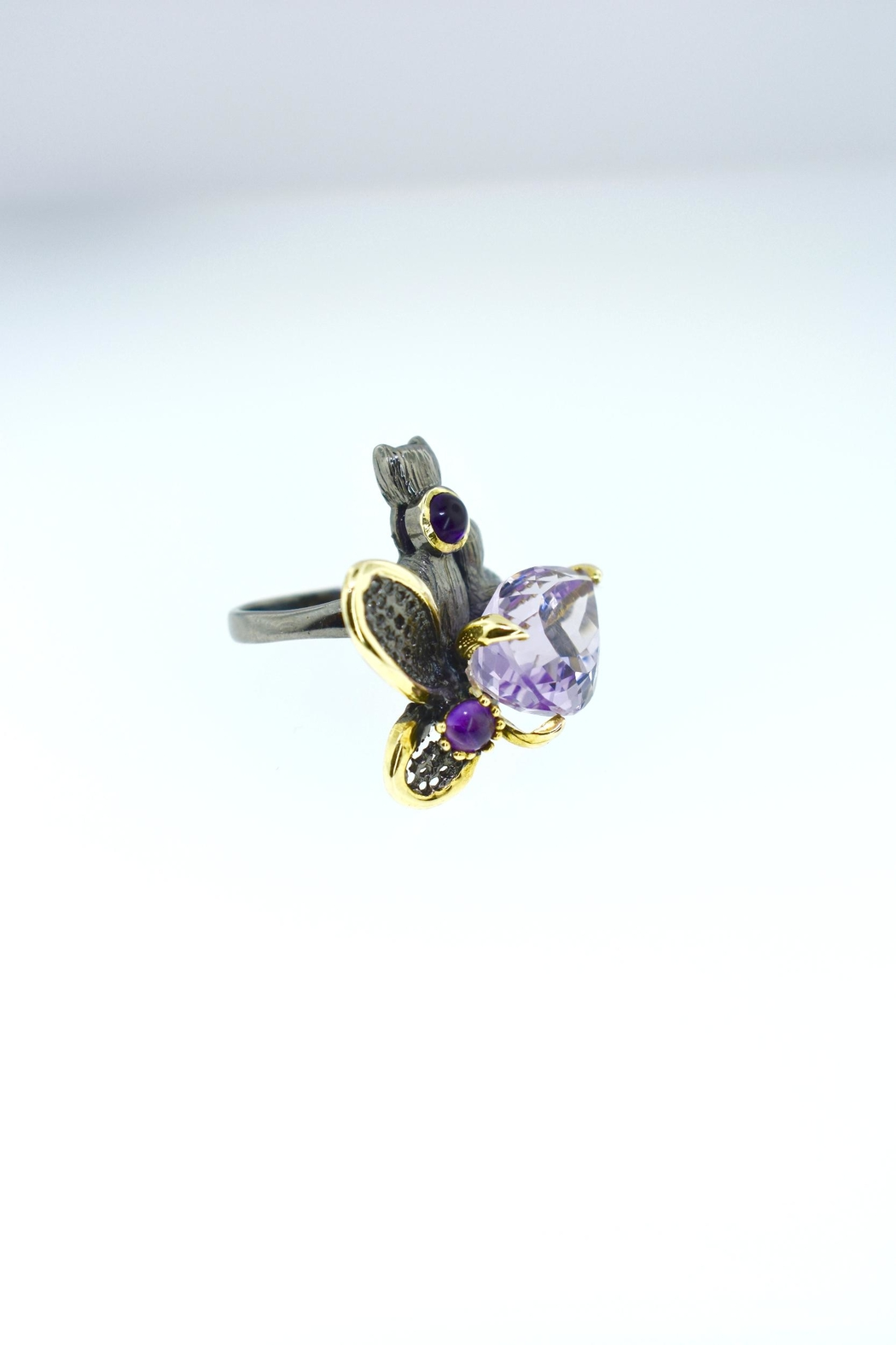 Tiara Fine Jewelry Silver Amethyst Ring - Front Full Image