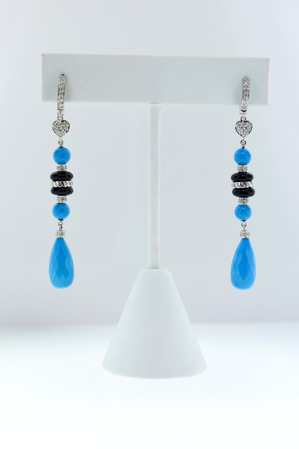 Tiara Fine Jewelry Turquoise Diamond Earrings - Main Image