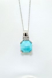 Tiara Fine Jewelry Turquoise Diamond Pendant - Product Mini Image