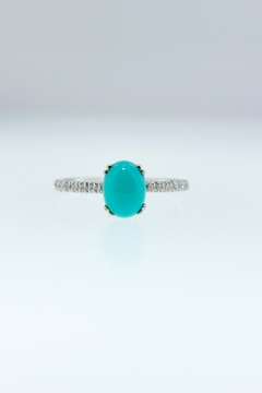 Tiara Fine Jewelry Turquoise Diamond Ring - Product List Image