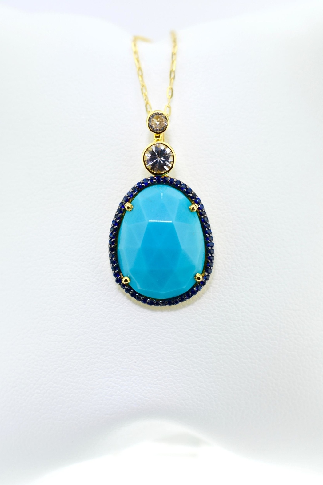 Tiara Fine Jewelry Turquoise Sapphire Necklace - Main Image
