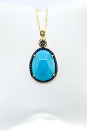 Tiara Fine Jewelry Turquoise Sapphire Necklace - Product Mini Image