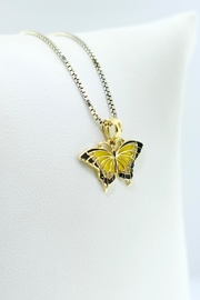 Tiara Fine Jewelry Yellow Butterfly Pendant - Front full body