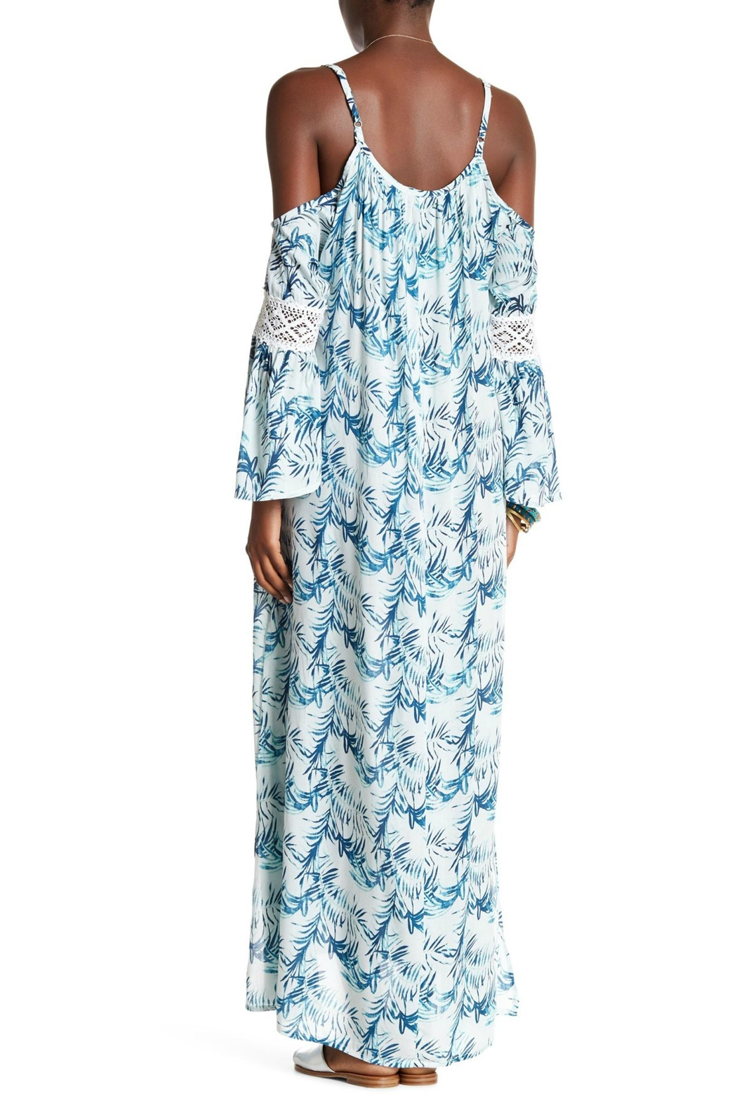 Tiare Hawaii Palm Maxi Dress - Front Full Image
