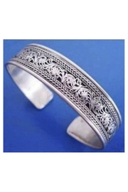 Twisted Designs Tibet-Silver Bangle-Style Cuff-Bracelet - Front cropped