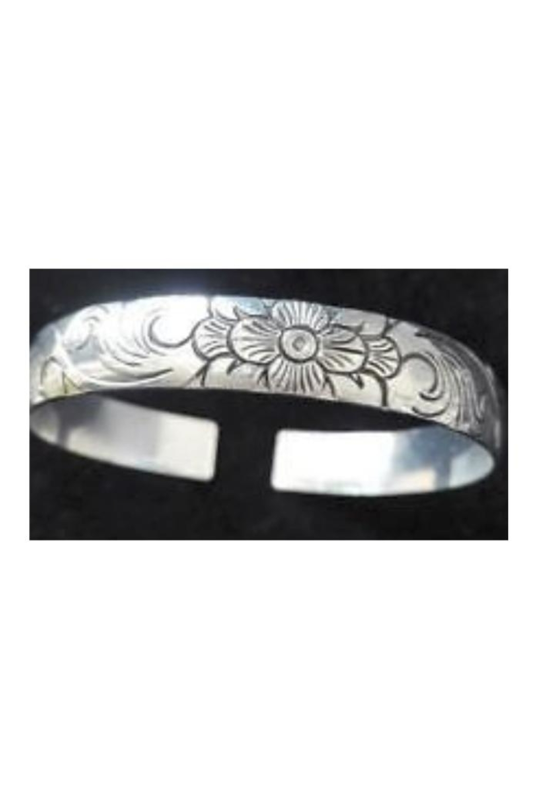 Twisted Designs Tibet-Silver Bangle-Style Cuff-Bracelet - Front Full Image