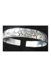 Twisted Designs Tibet-Silver Bangle-Style Cuff-Bracelet - Front full body