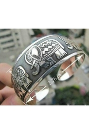Twisted Designs Tibetan Elephant-Silver Cuff - Product Mini Image