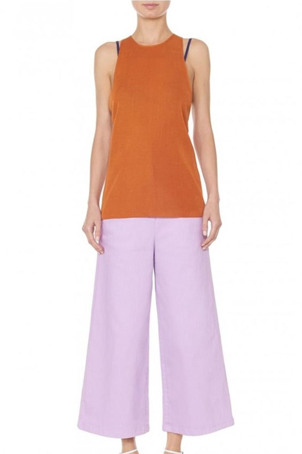 Tibi Claire Sweater Tank - Side Cropped Image