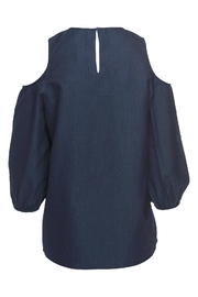 Tibi Cut Out Shoulder Top - Front full body
