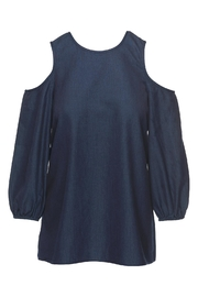 Tibi Cut Out Shoulder Top - Product Mini Image