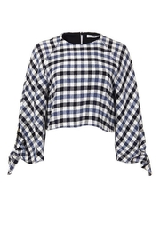 Tibi Fairfax Gingham Top - Front cropped
