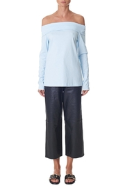 Tibi Mercerized Off The Shoulder Top - Product Mini Image