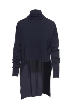 Tibi Mixed Silk Sweater - Product List Image