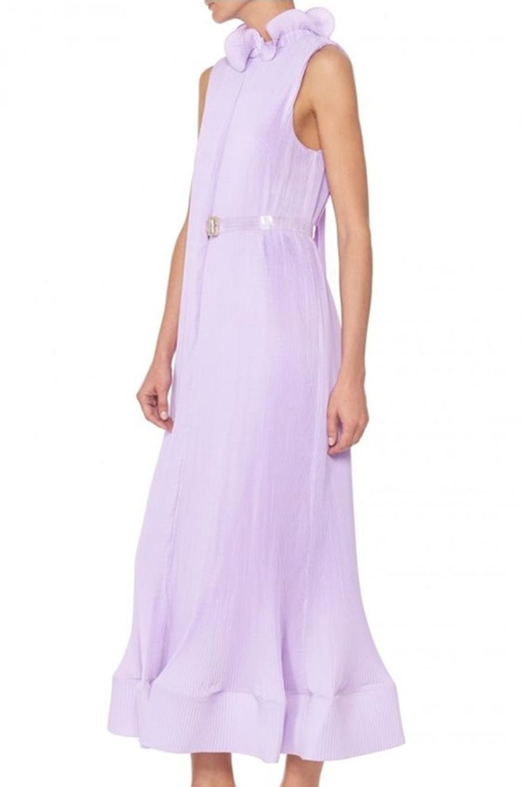 Tibi Pleating Sleeveless Dress - Front Full Image