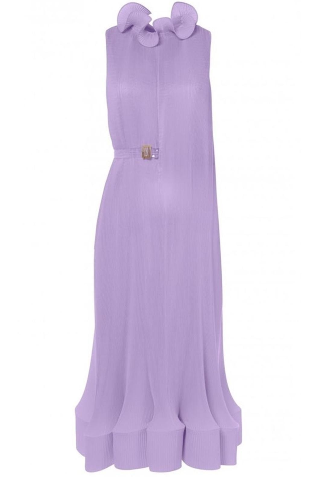 Tibi Pleating Sleeveless Dress - Back Cropped Image