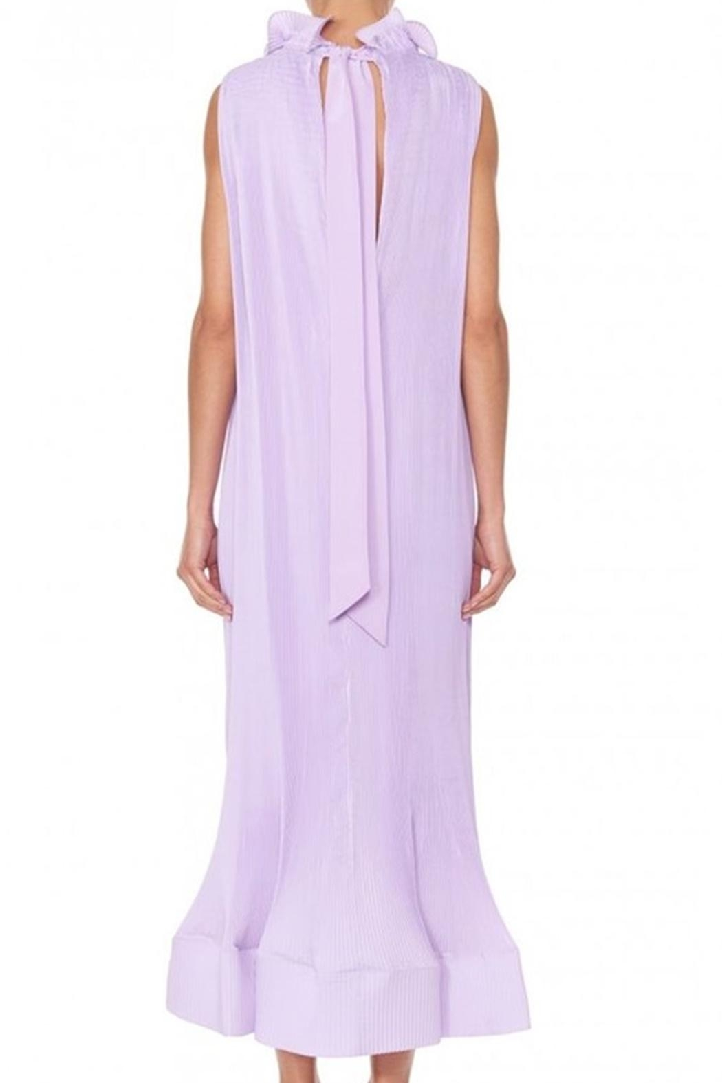 Tibi Pleating Sleeveless Dress - Side Cropped Image