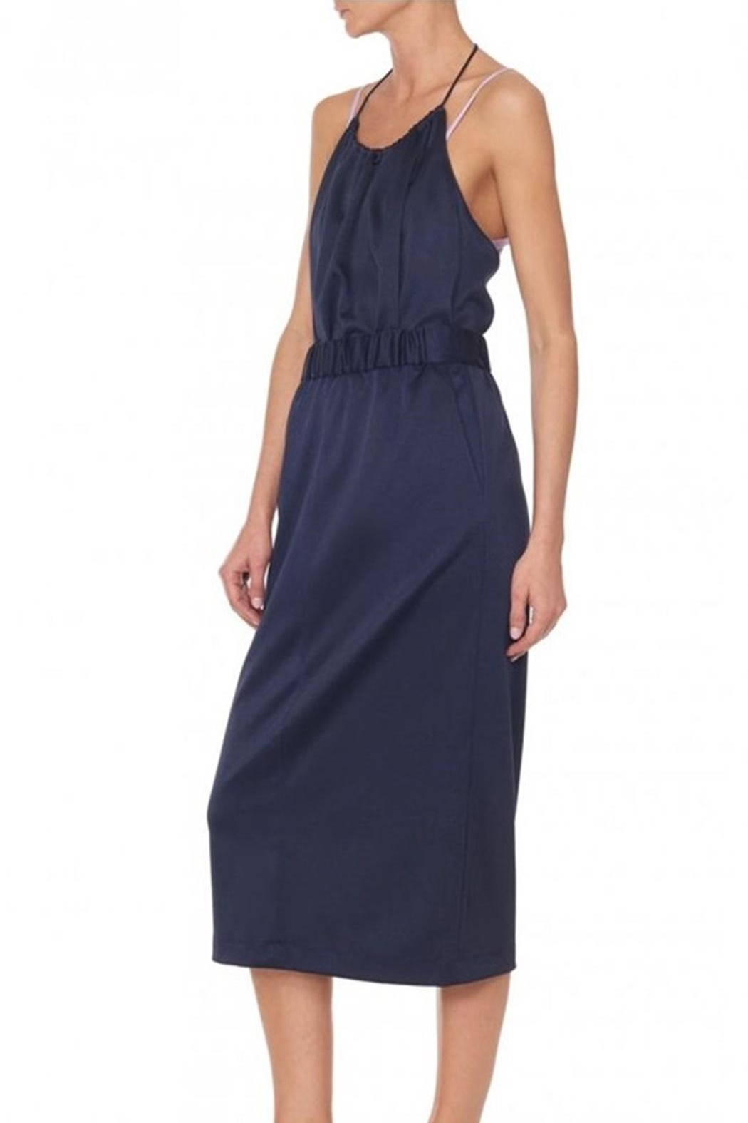 Tibi Sculp Pique Halter - Side Cropped Image
