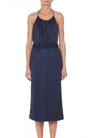Tibi Sculp Pique Halter - Front full body