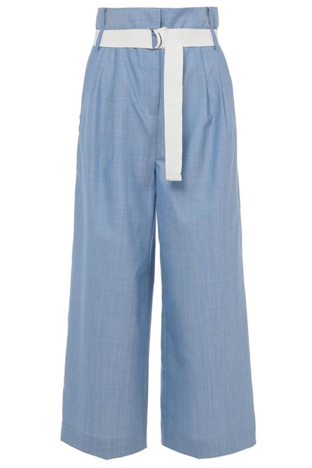 Tibi Serge Suiting Pant - Back Cropped Image