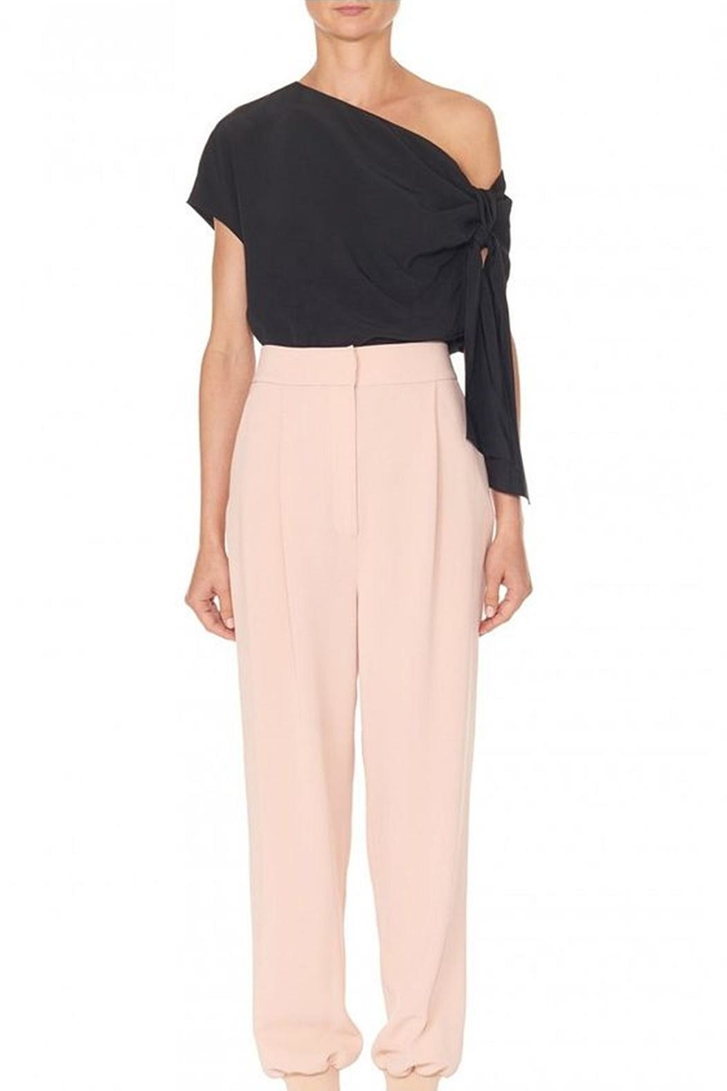 Tibi Silk Asymmetrical Top - Front Full Image