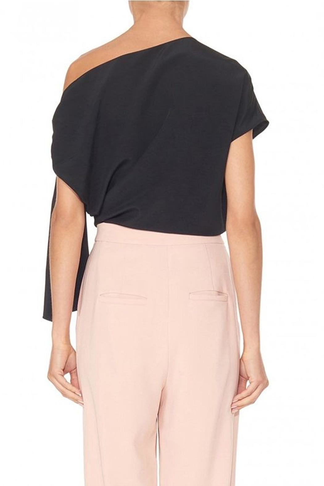Tibi Silk Asymmetrical Top - Back Cropped Image