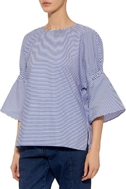 Tibi Stripe Shirred Top - Product Mini Image