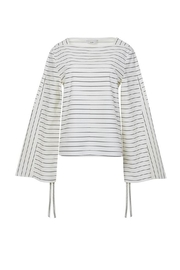 Tibi Striped Shirting Top - Product Mini Image