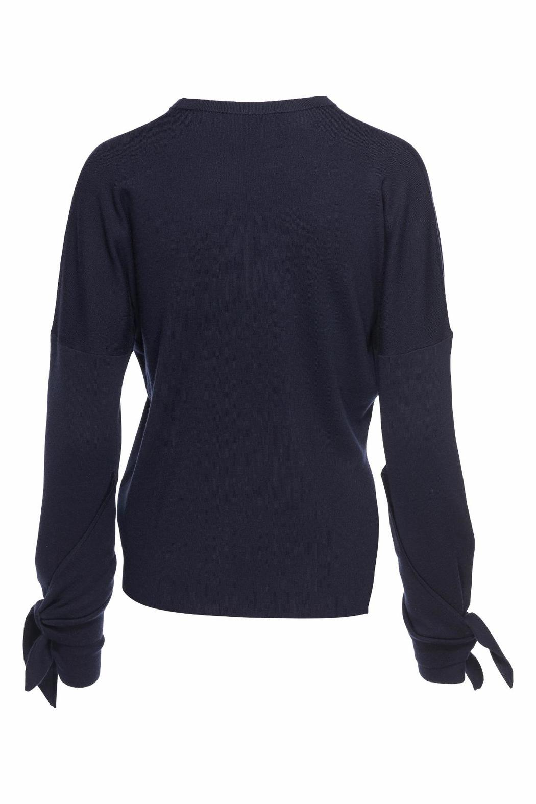 Tibi Tie Sleeve Sweater - Front Full Image